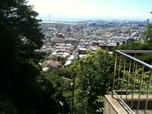 天王宮素盞鳴神社の社務所からの眺め