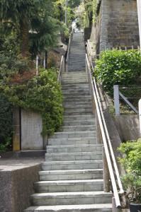足羽山へ登る階段