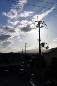 台風一過の夕刻