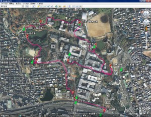 GPSデータ@大阪大学周辺