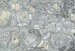 Google Earth+正式2万分1地形図「茨木」