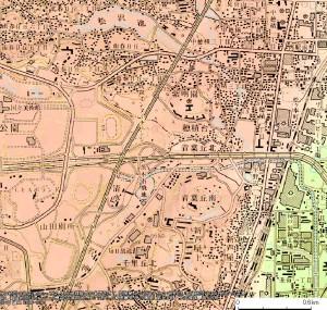 1978年二改の地形図における茨木市飛地