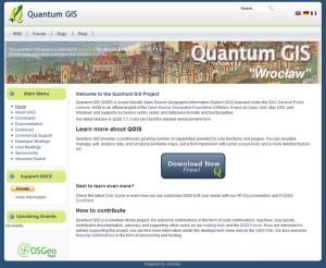 QGISサイトのトップページ