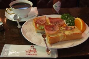 丸福珈琲店のピザトースト