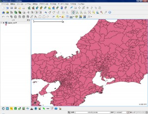 全国市区町村界データの拡大表示