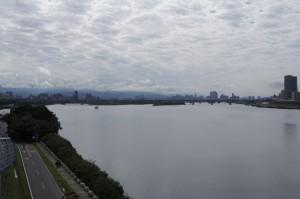 台北市街を望む