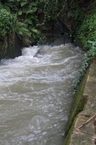 ため池からの取水口