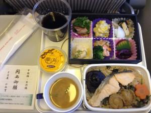 JL813便の機内食