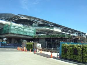 工事中のMRT駅