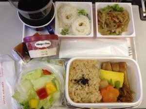 JL816便の機内食