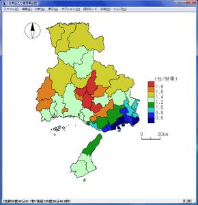 統計地図の最終確認