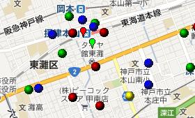 [甲南GIS13]住所リストのジオコーディングと地図化