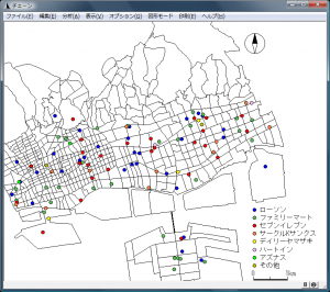 東灘区・灘区のコンビニ分布図