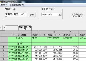小地域単位の属性データ