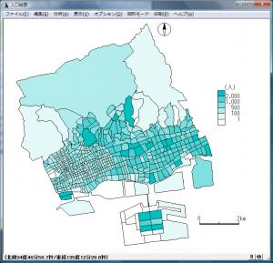 人口総数の統計地図
