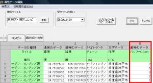 属性データに追加されたバッファ分析結果