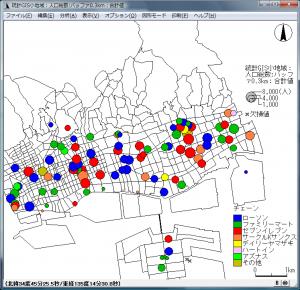 可変シンボルマップによる地図化