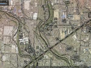 Google Earthと正式2万分1地形図の重ね合わせ