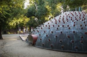西河原公園の内部。