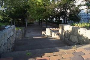茨木川の旧河道。