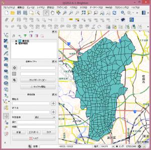 背景地図として国土地理院の標準地図を表示。