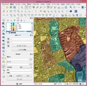 空中写真を背景地図として表示。