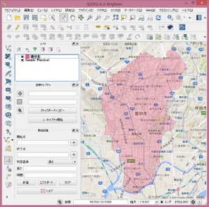 背景地図としてGoogleマップを表示。
