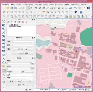 背景地図としてOSMを表示。