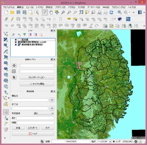 第5回植生図(環境省)を背景地図に設定。