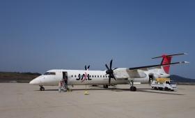 ボンバルディアDHC8-Q400@隠岐空港。